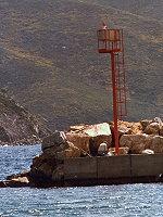 Porto Marina di Campo Fanale a Luce Ritmica Laterale Sinistra, molo esterno - Traghetto Elba