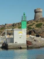 Porto di Capraia Fanale a Luce Fissa Laterale Dritta Molo Nord Estremità - Traghetto Elba