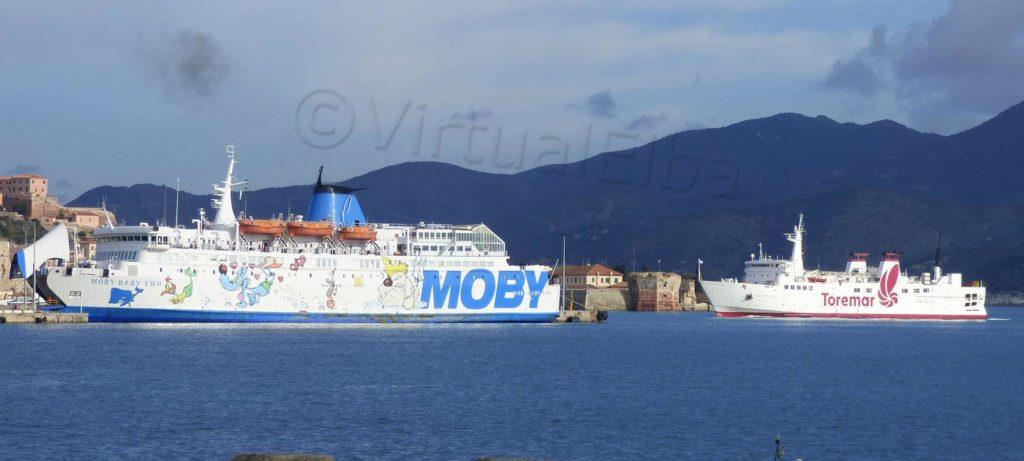 Elba Traghetto Moby Baby two e Stelio Montopoli (Aethalia)